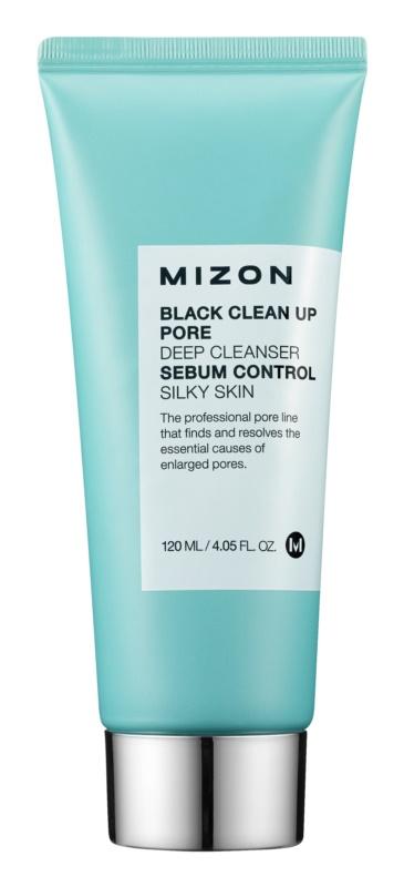 Mizon Clean espuma de limpeza e peeling com carvão e sal do Mar Morto