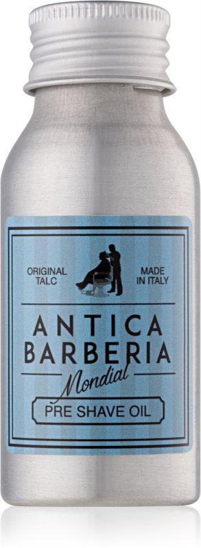 Mondial Antica Barberia Original Talc olje pred britjem