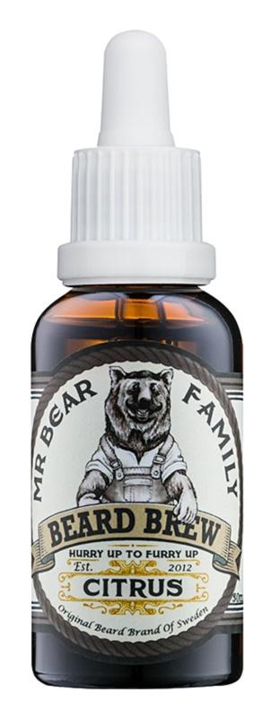 Mr Bear Family Citrus óleo para barba