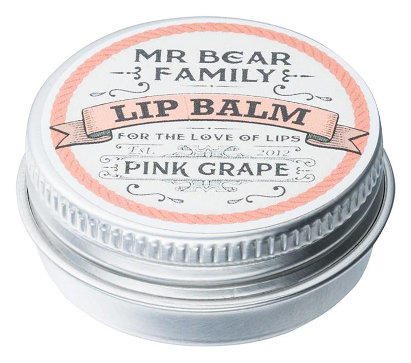 Mr Bear Family Pink Grape balzám na rty pro muže