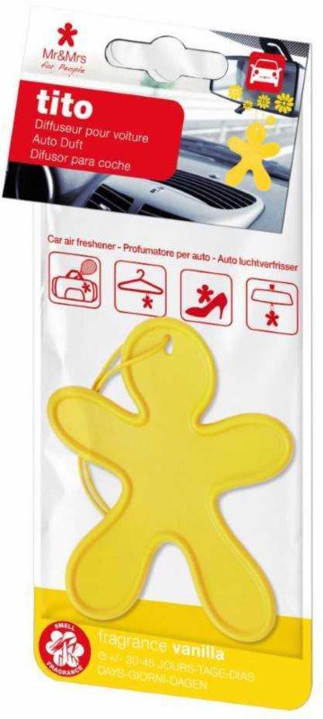Mr & Mrs Fragrance Tito Yellow Vanilla vůně do auta    (Vanilla)