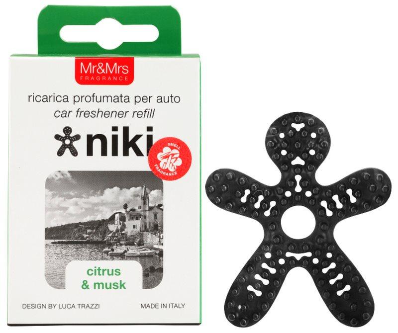 Mr & Mrs Fragrance Niki Citrus & Musk parfum pentru masina   Refil