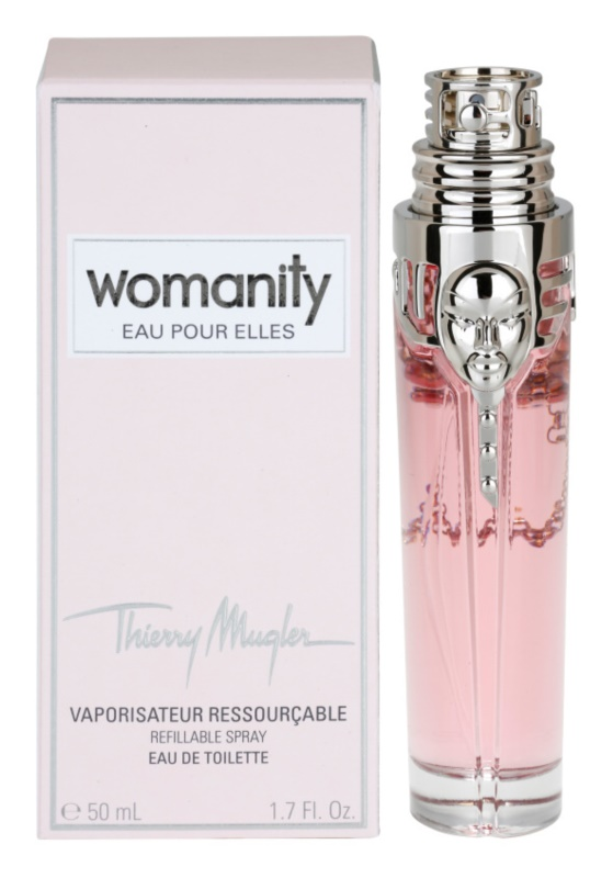 Mugler Womanity Eau pour Elles Eau de Toilette Damen 50 ml Nachfüllbar