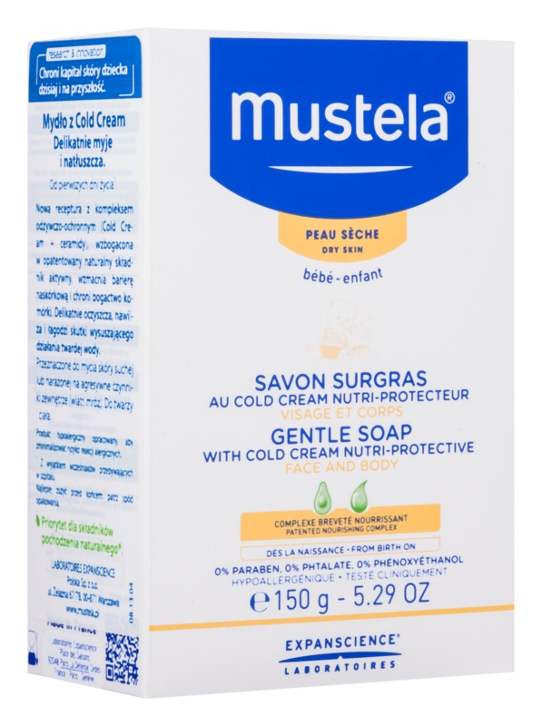 Mustela Bébé Bain Gentle Soap With Cold Cream Nutri - Protective