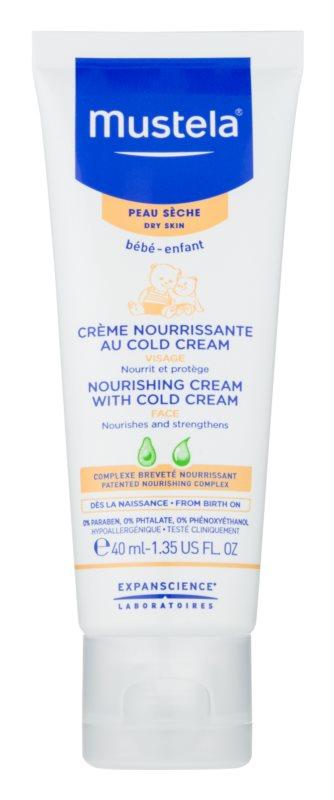 Mustela Bébé Cold Cream creme protetor nutritivo para crianças