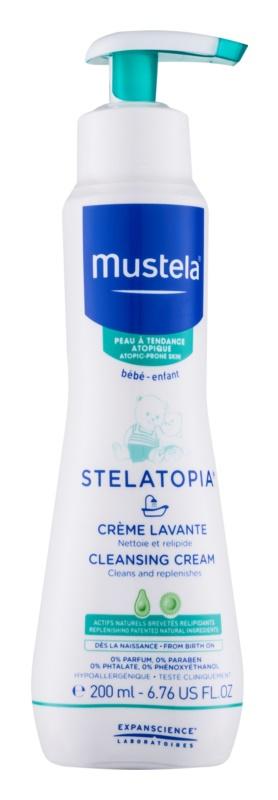 Mustela Bébé Stelatopia очищуючий крем для дітей від народження