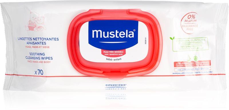 Mustela Bébé zklidňující čisticí ubrousky pro děti