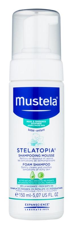 Mustela Bébé Stelatopia szmpon w piance dla dzieci od urodzenia