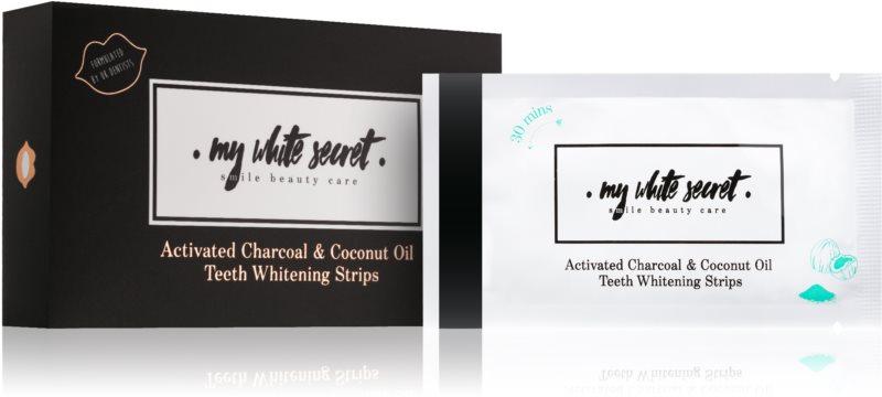 My White Secret Charcoal and Coconut Oil bandes blanchissantes pour les dents