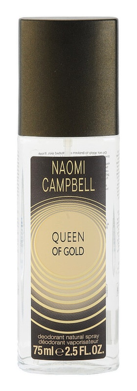 Naomi Campbell Queen of Gold дезодорант з пульверизатором для жінок 75 мл