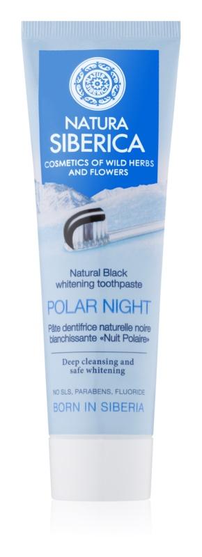 Natura Siberica Polar Night dentífrico branqueador com carvão preto