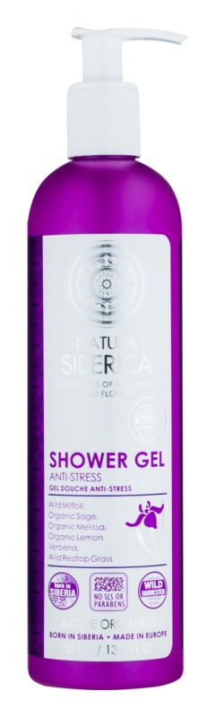 Natura Siberica Wild Herbs and Flowers gel de duche anti-stress com efeito reafirmante