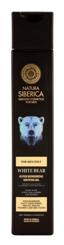 Natura Siberica For Men Only osvježavajući gel za tuširanje za muškarce