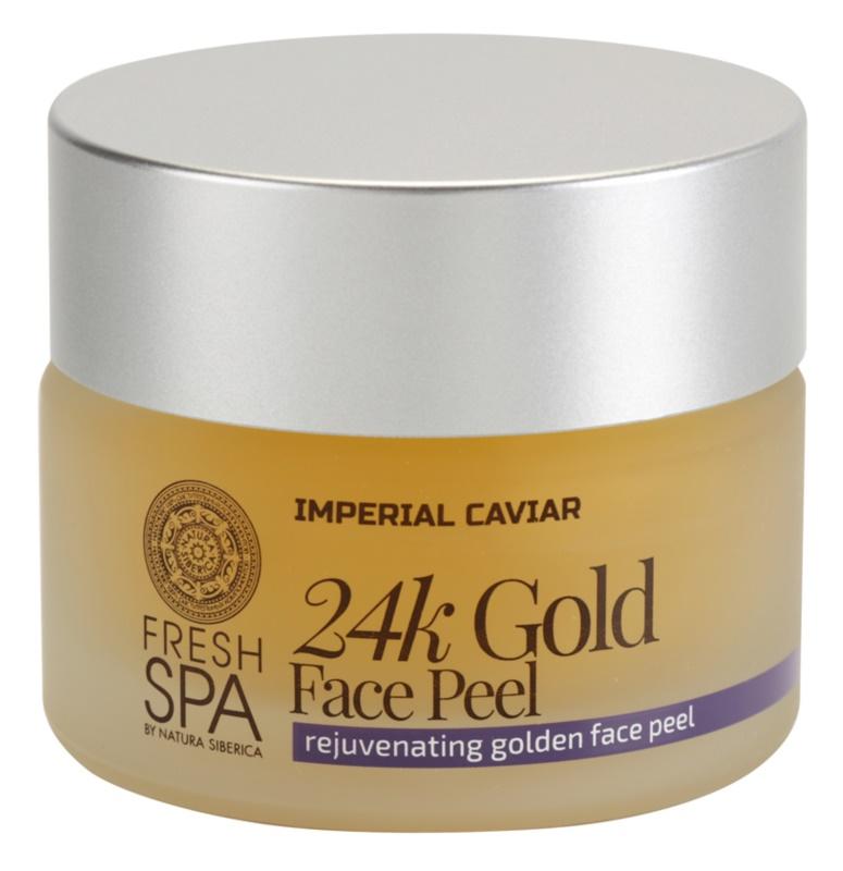 Natura Siberica Fresh Spa Imperial Caviar peeling facial de rejuvenescimento com ouro 24 de quilates