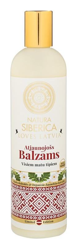 Natura Siberica Loves Latvia bálsamo regenerador para cabelo