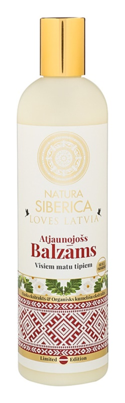 Natura Siberica Loves Latvia balsamo rigenerante per capelli
