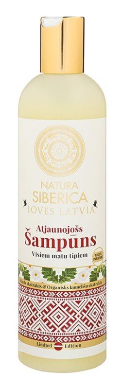 Natura Siberica Loves Latvia champô renovador para cabelo