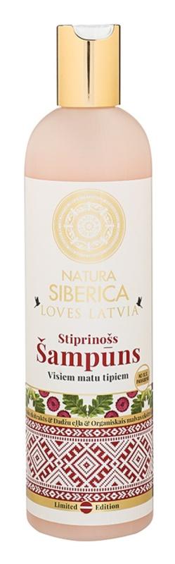 Natura Siberica Loves Latvia champô reforçador para cabelo