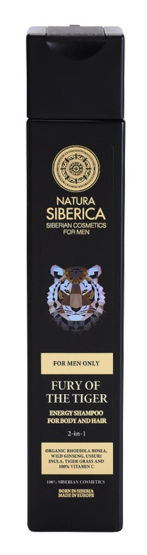 Natura Siberica Men Energizing Shampoo For Hair And Body
