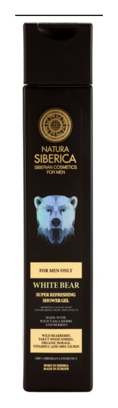 Natura Siberica For Men Only gel de dus revigorant pentru barbati