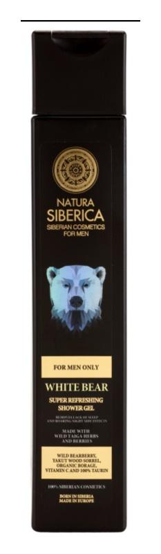 Natura Siberica For Men Only освіжаючий гель для душа для чоловіків