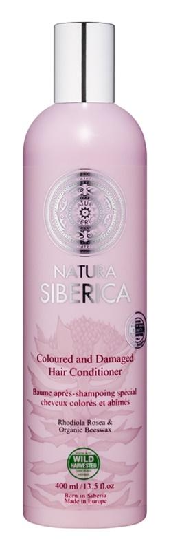 Natura Siberica Natural & Organic balsam pentru par vopsit si deteriorat