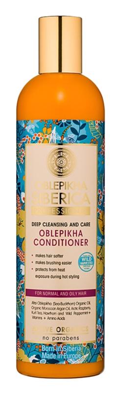 Natura Siberica Rakytník hĺbkovo čistiaci kondicionér pre normálne až mastné vlasy