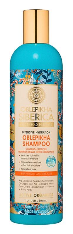 Natura Siberica Rakytník hydratačný šampón pre normálne až suché vlasy