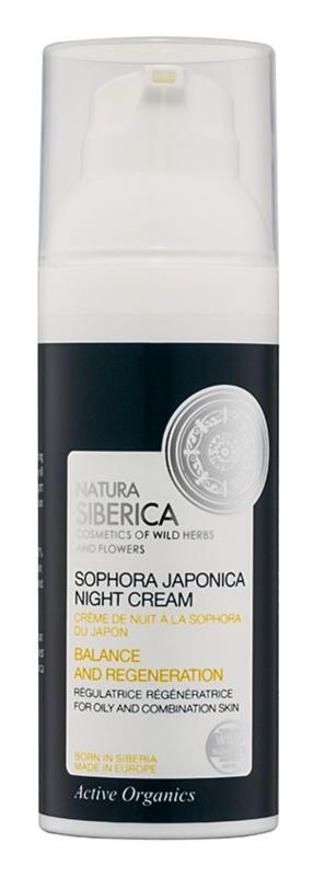 Natura Siberica Sophora Japonica regenerační noční krém pro mastnou a smíšenou pleť