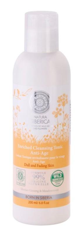 Natura Siberica Wild Herbs and Flowers nährendes Reinigungstonikum gegen Hautalterung