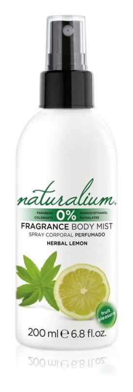 Naturalium Fruit Pleasure Herbal Lemon osvežujoče pršilo za telo