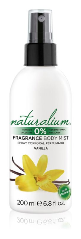 Naturalium Fruit Pleasure Vanilla osviežujúci telový sprej