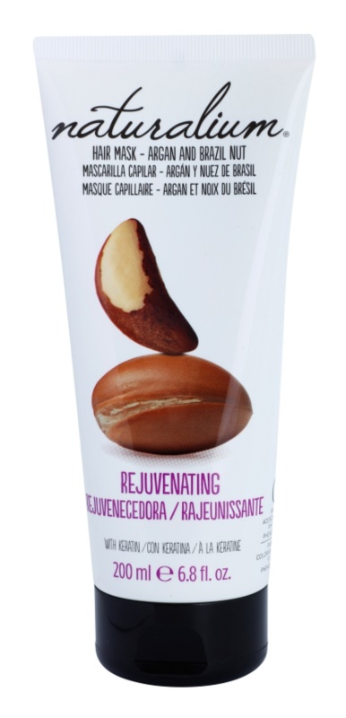 Naturalium Nuts Argan and Brazil Nut feuchtigkeitsspendende Maske für die Haare mit Keratin