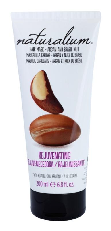 Naturalium Nuts Argan and Brazil Nut maska nawilżająca do włosów z keratyną