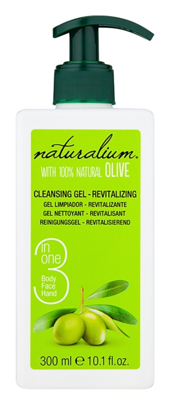 Naturalium Olive revitalizacijski čistilni gel za obraz in telo