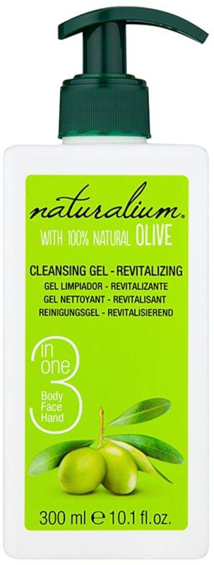Naturalium Olive revitalizačný čistiaci gél na tvár a telo