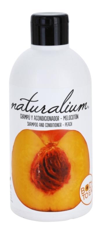 Naturalium Fruit Pleasure Peach champú y acondicionador