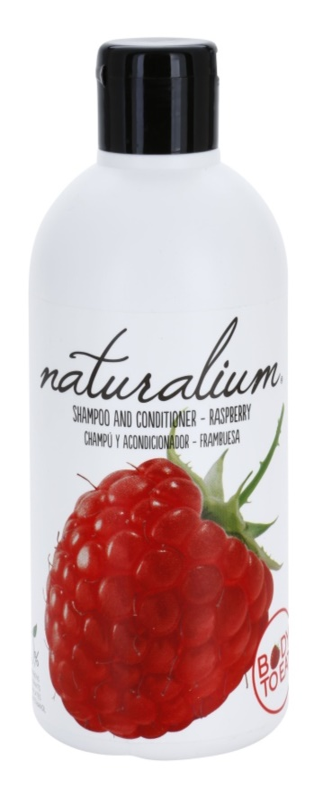 Naturalium Fruit Pleasure Raspberry šampon a kondicionér