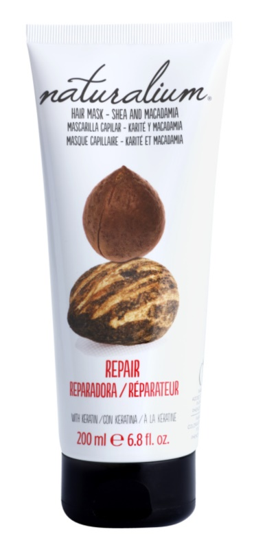 Naturalium Nuts Shea and Macadamia regenererende sheet mask met Keratine