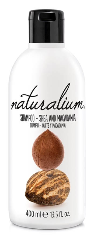 Naturalium Nuts Shea and Macadamia champú regenerador para cabello seco y dañado