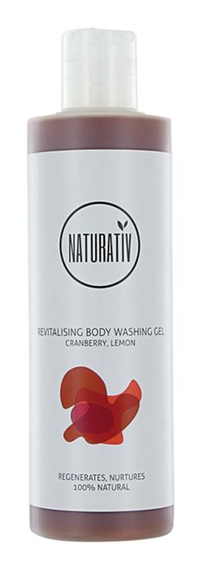 Naturativ Body Care Revitalising sanftes Duschgel mit feuchtigkeitsspendender Wirkung