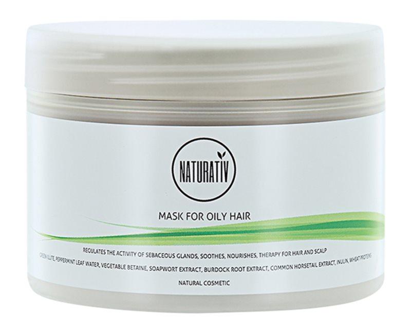 Naturativ Hair Care Getleness,Shine&Strength máscara de lama negra para cabelo oleoso