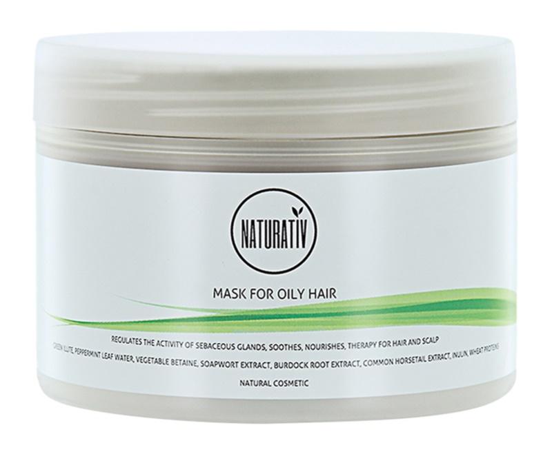 Naturativ Hair Care Getleness,Shine&Strength maska błotna do włosów przetłuszczających