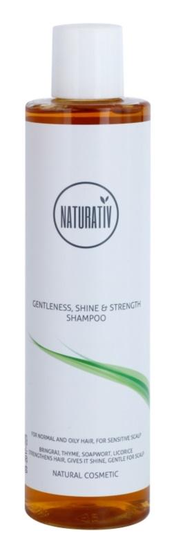Naturativ Hair Care Getleness,Shine&Strength champô suave para o couro cabeludo sensível