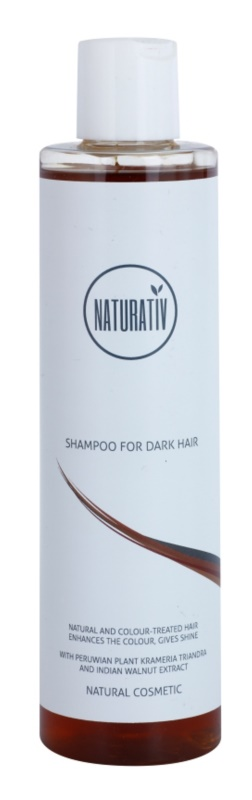 Naturativ Hair Care Dark натурален шампоан за подчертаване на цвета на косата