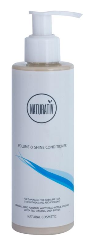 Naturativ Hair Care Volume&Shine acondicionador para cabello fino y lacio