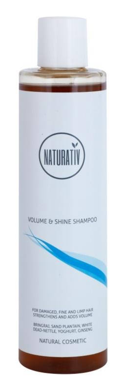 Naturativ Hair Care Volume&Shine champô para dar volume para cabelo fino e sem volume