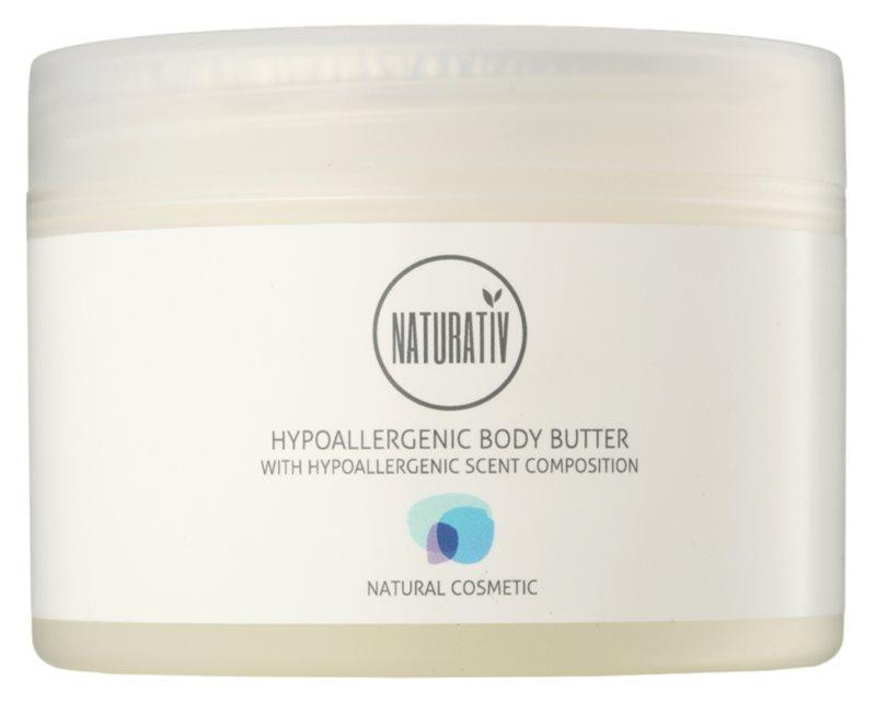 Naturativ Body Care Hypoallergenic Body-Butter mit  feuchtigkeitsspendender und beruhigender Wirkung für trockene und sehr trockene Haut