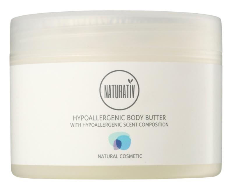 Naturativ Body Care Hypoallergenic tělové máslo s hydratačním a zklidňujícím účinkem pro suchou až velmi suchou pokožku