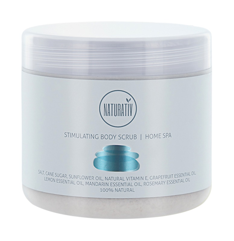 Naturativ Body Care Home Spa Stimulating Salt and Sugar Body Scrub